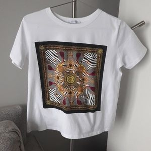 Zara Tops - Zara White T - Bandana Graphic